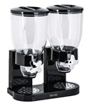 Double Food Dispensing Canister - Black