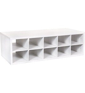 Double Hang Big O-Box Cubby Unit - Snowdrift Live Image