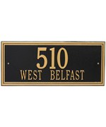 Double Line Estate Wall Address Plaque - Two Line