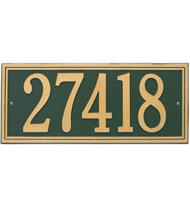 Double Line Wall Address Plaque - Estate One-Line Image