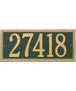 Double Line Wall Address Plaque - Estate One-Line