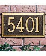 Double Line Wall Address Plaque - One-Line
