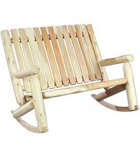 Double Porch Rocker - Beautiful Cedar Wood Construction Image