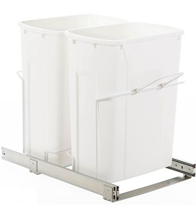 Double Pull-Out Trash Bins - 35 Quart Image