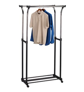 Double Flared Adjustable Clothes Rack Image