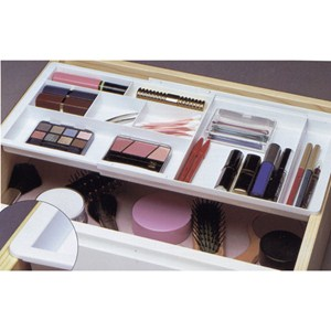 Drawer Doubler Divided Organizer - White Image