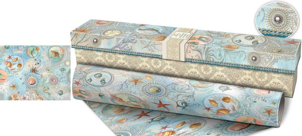 Drawer Liner Paper - Sea Spray (Set of 5) in Shelf and ...