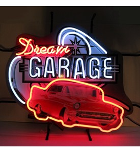 Dream Garage 57 Chevy Neon Sign with Silkscreen Backing by Neonetics Image
