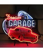 Dream Garage 57 Chevy Neon Sign with Silkscreen Backing by Neonetics