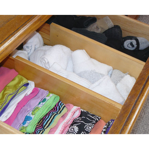 Expandable wood dresser drawer dividers set of in