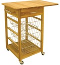 Drop Leaf Folding Basket Cart