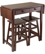 Drop Leaf Table with Two Stools