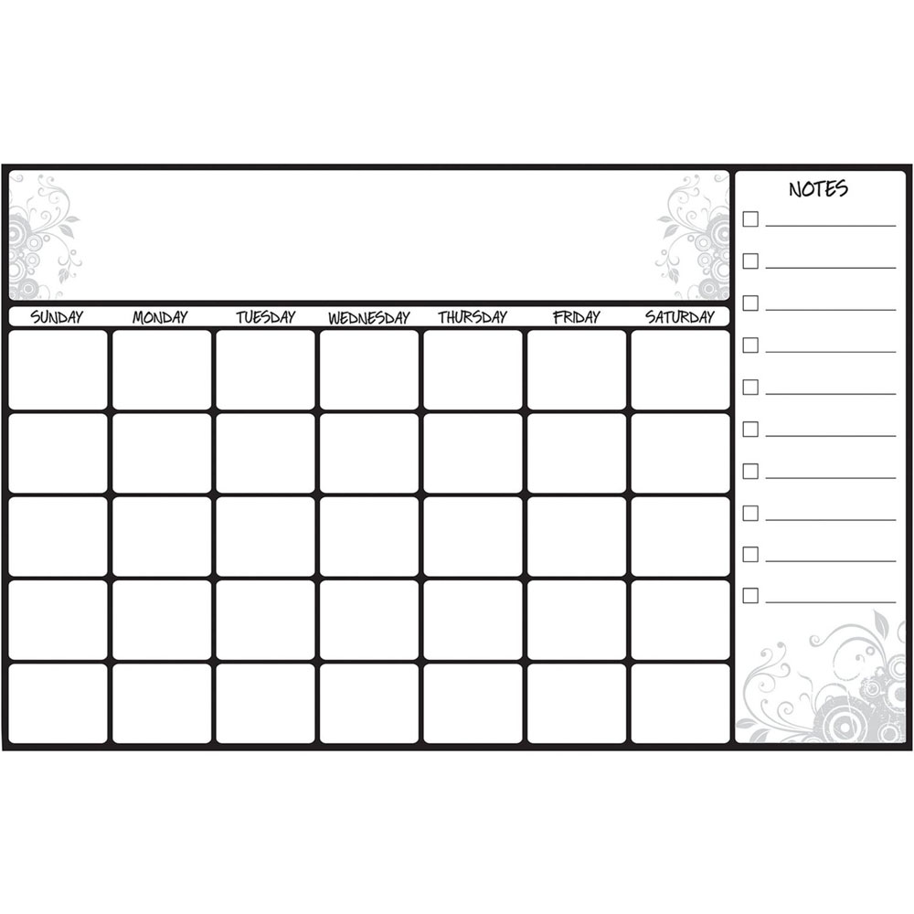 Dry Erase Calendar Decal : Dry erase calendar decal in calendars and planners
