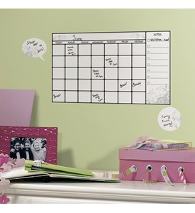 Dry Erase Calendar - Wall Decal (Set of 7) Image