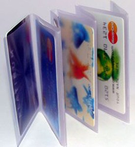 Clear Plastic Wallet Windows - Tri-Fold Accordion Image