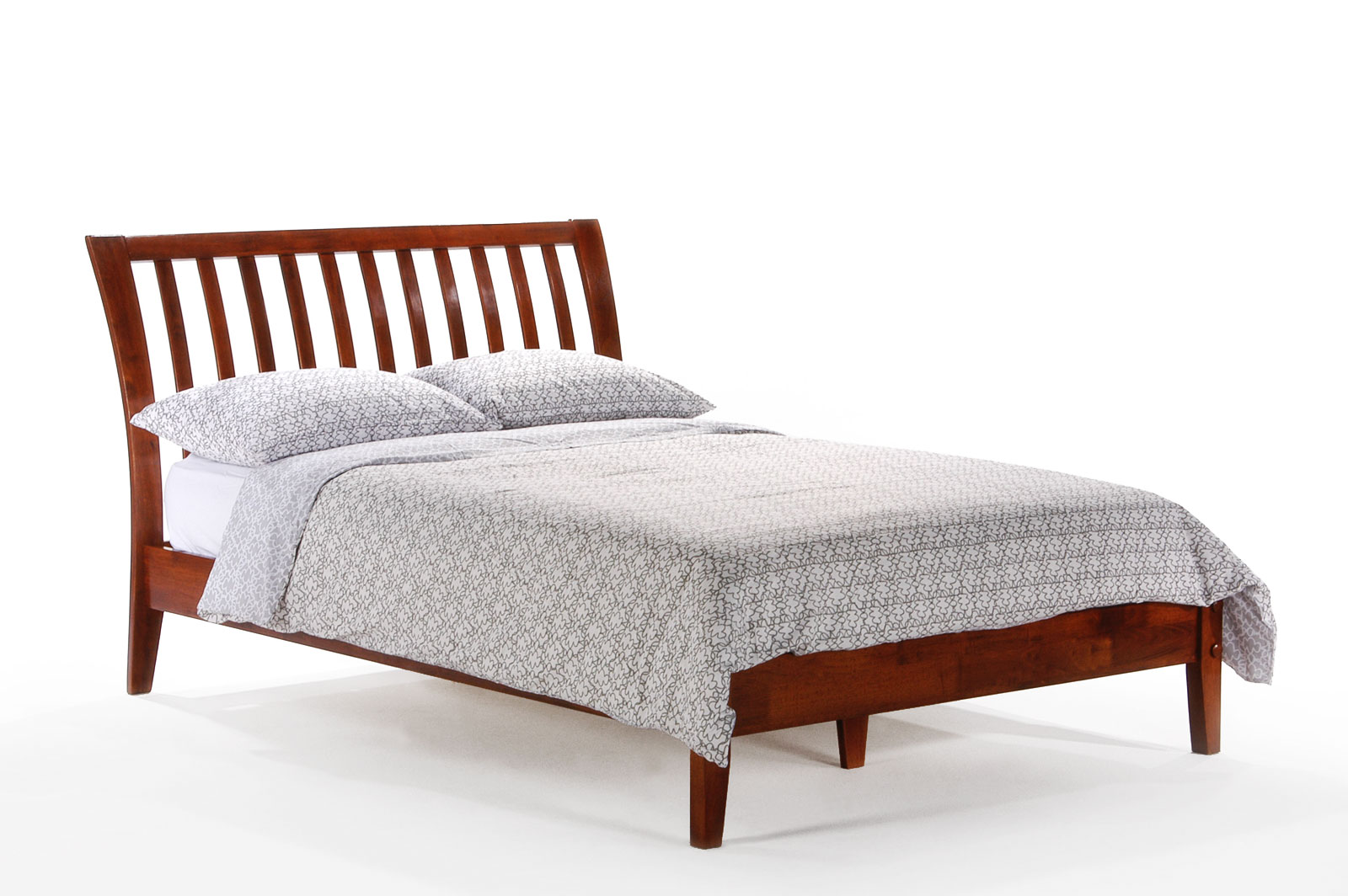 Eastern king nutmeg platform bed by night and day Platform king bed