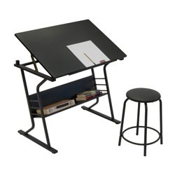 Eclipse Drawing Table with Stool by Studio Designs Image