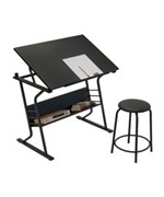 Eclipse Drawing Table with Stool by Studio Designs
