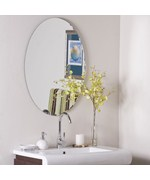 Egg Shaped Frameless Wall Mirror by Decor Wonderland