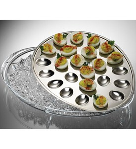 Stainless Steel Iced Deviled Egg Tray Image