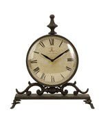 Eilard Iron Table Clock by Imax