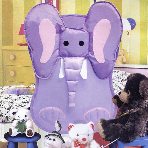 Elephant Collapsible Laundry Hamper Image