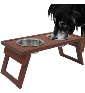 Elevated Dog Food Bowls - Russet Image