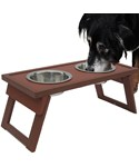 Elevated Dog Food Bowls - Russet