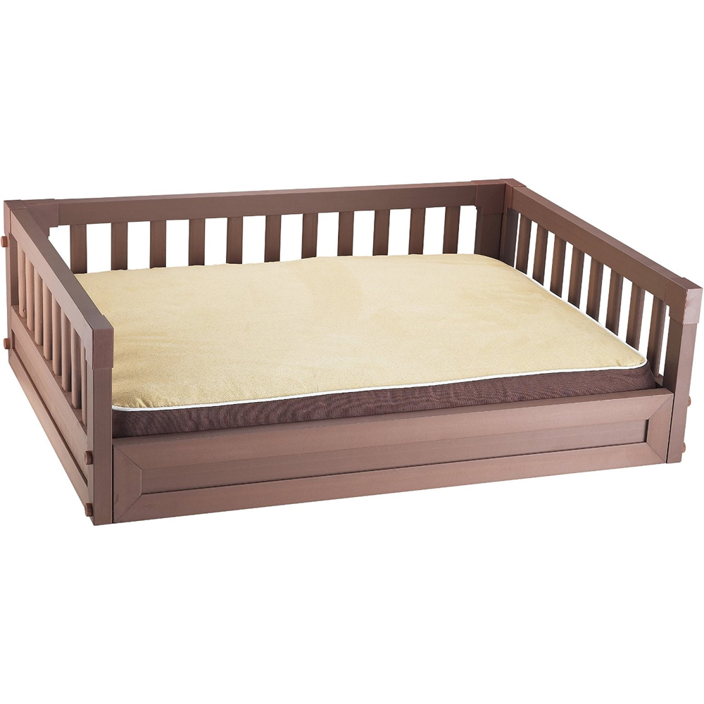 Elevated pet bed russet in pet beds for Raise bed off floor