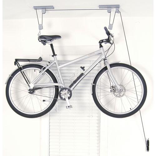 Ceiling bike hoist in ceiling bike storage - Bike storage for small spaces image ...