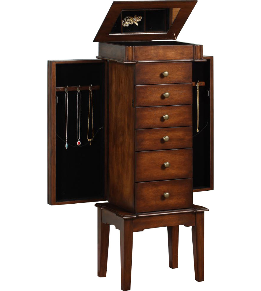 traditional jewelry armoire in jewelry armoires. Black Bedroom Furniture Sets. Home Design Ideas