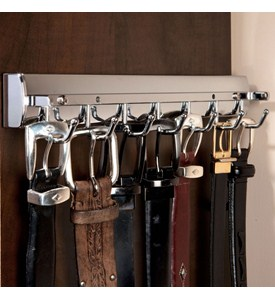 Elite Sliding Belt Rack - Satin Nickel Image