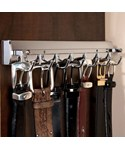 Elite Sliding Belt Rack - Satin Nickel