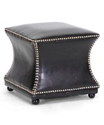 Ellastone Dark Brown Modern Leather Ottoman by Wholesale Interiors