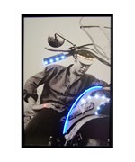 Elvis Motorcycle Neon and LED Picture