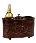 Embossed Copper Two Bottle Wine Chiller