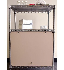 Wire Shelving Enclosures and Doors - Beige Image