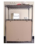 Wire Shelving Enclosures and Doors - Beige