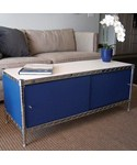 Wire Shelving Enclosures and Doors - Blue