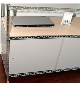 Wire Shelving Enclosures and Doors - Gray Image