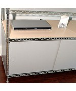 Wire Shelving Enclosures and Doors - Gray