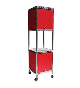 Wire Shelving Enclosures and Doors - Red Image