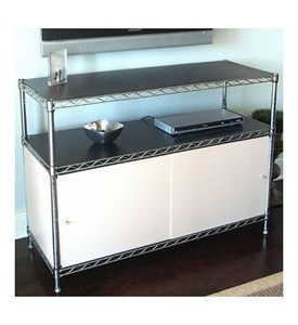 Wire Shelving Enclosures and Doors - White Image