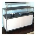 Wire Shelving Enclosures and Doors - White