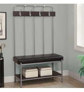 Hallway Bench with Coat Rack Image