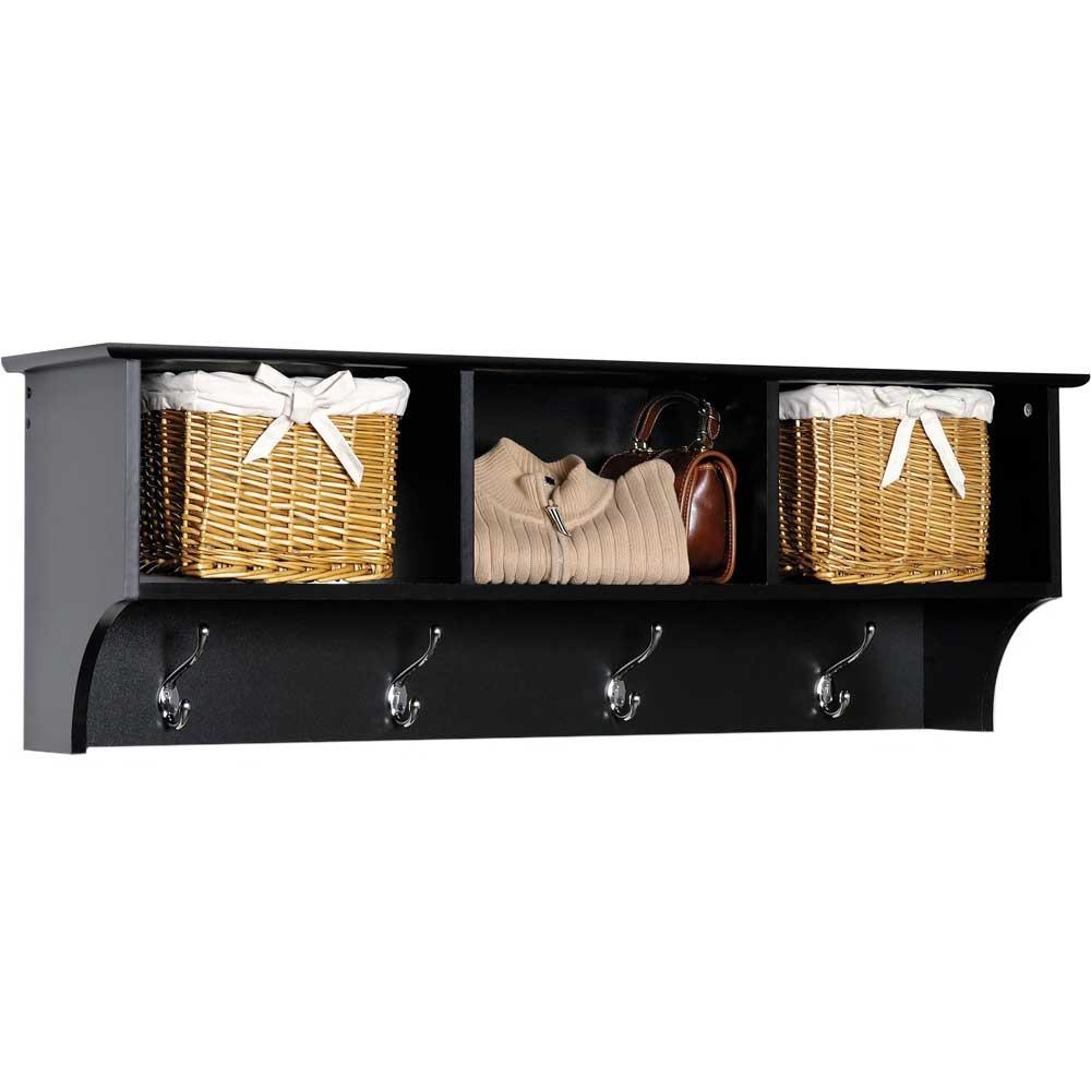 Cubbie Shelf For Entryway In Wall Coat Racks