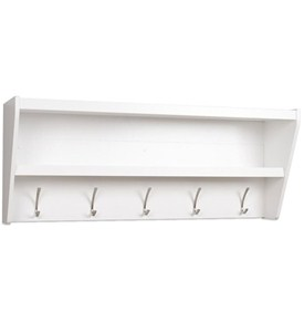 Entryway Shelf with Hooks Image