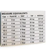 Stainless Steel Measure Equivalents Magnet