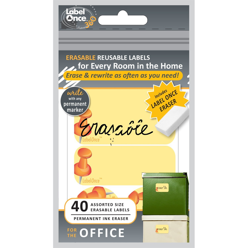 Erasable Labels (Set of 40) in Office Labels
