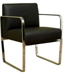Esposito Black Bonded Leather Office Chair By Wholesale Interiors Inc